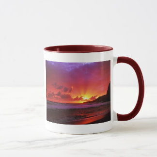 Sunset at the island mug