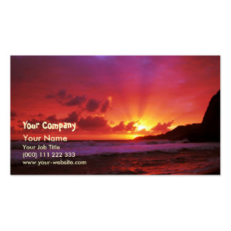 Sunset at the island pack of standard business cards