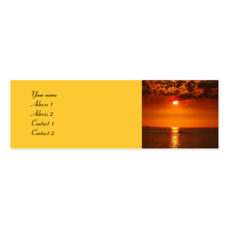 Sunset at the lake - business-card business card template