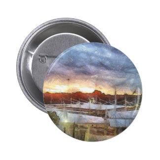 Sunset at the Marina 6 Cm Round Badge