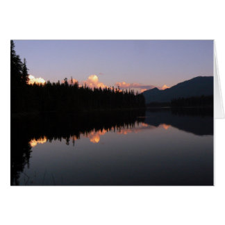 Sunset at the Mosquito Lake, British Columbia Card