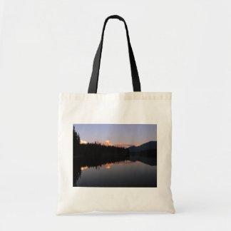 Sunset at the Mosquito Lake, British Columbia Tote Bag