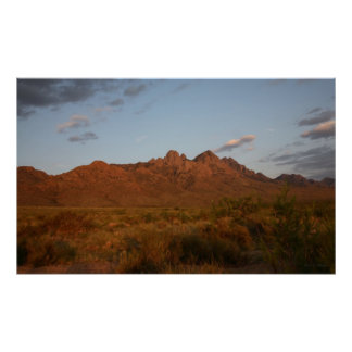 Sunset at the Organ Mountains Poster