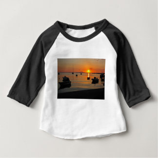 Sunset at the port of Novalja n iKroatien Baby T-Shirt