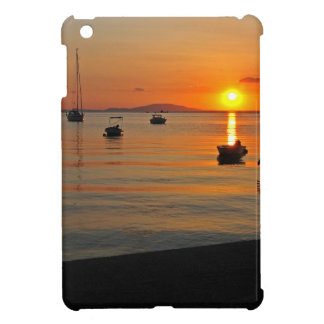 Sunset at the port of Novalja n iKroatien iPad Mini Cover