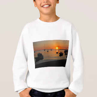 Sunset at the port of Novalja n iKroatien Sweatshirt