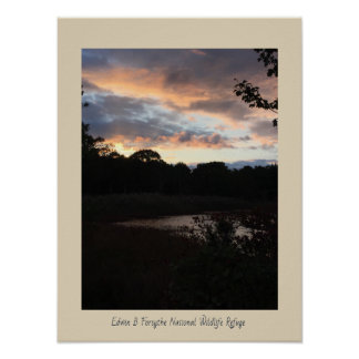 Sunset at the Refuge Poster