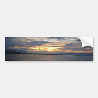 Sunset at the shore bumper sticker