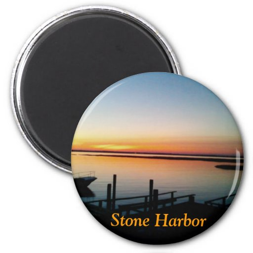 sunset at the shore magnet