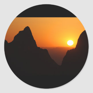 Sunset at the Window Classic Round Sticker