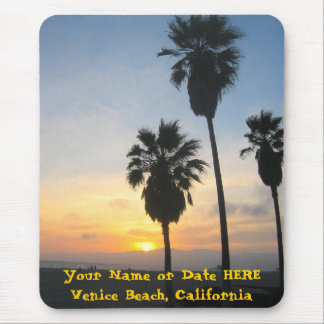 Sunset at Venice Beach California Mouse Pads
