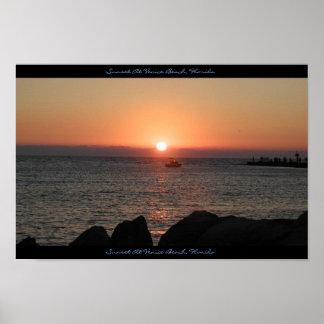 Sunset At Venice Beach, Florida Poster