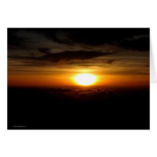 Sunset atop Haleakala - Maui, Hawaii Card