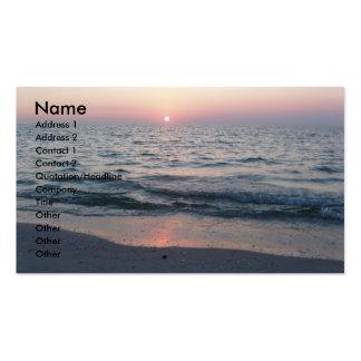 Sunset beach business card