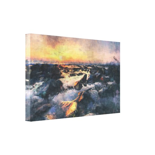 Sunset Beach Gallery Wrapped Canvas