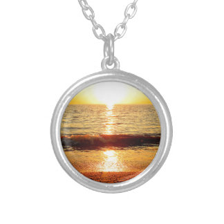 Sunset beach, Cape May NJ Round Pendant Necklace