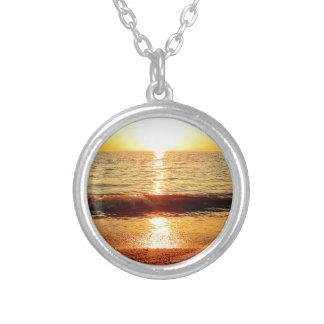 Sunset beach, Cape May NJ Round Pendant Necklace