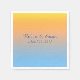 Sunset Beach Colors Napkins Paper Napkin