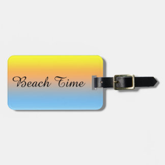 Sunset Beach Colors with Personalized Luggage Tag