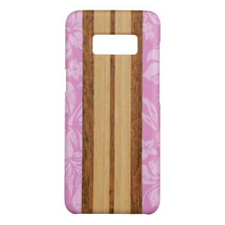 Sunset Beach Faux Wood Pink Surfboard Hawaiian Case-Mate Samsung Galaxy S8 Case