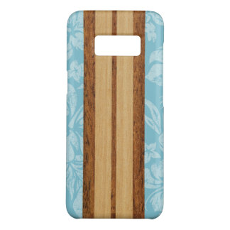 Sunset Beach Faux Wood Surfboard Hawaiian Aqua Case-Mate Samsung Galaxy S8 Case