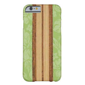 Sunset Beach Faux Wood Surfboard Hawaiian Barely There iPhone 6 Case
