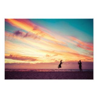 Sunset Beach Fun Art Photo