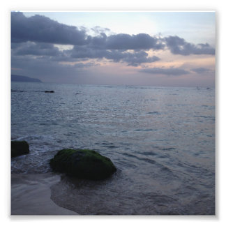 Sunset & Beach in Hawaii Photo Print