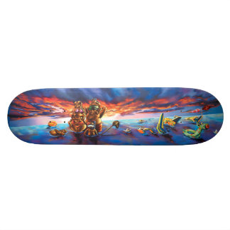 Sunset Beach & Odd Water Toys - Streetart Sk8 Deck 21.3 Cm Mini Skateboard Deck