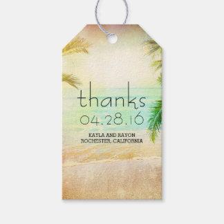 Sunset Beach Palms Wedding Thank You