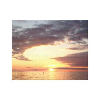 Sunset Beach Photo Canvas Art Print (Michigan)