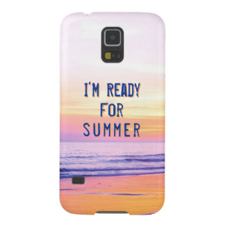 "Sunset Beach ""Ready for Summer"" Quote Cases For Galaxy S5"