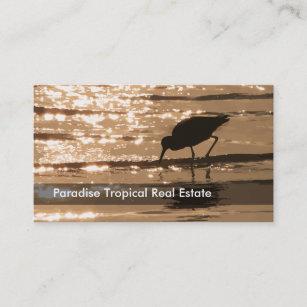 Coastal real estate business cards zazzle au sunset beach real estate business cards reheart Image collections