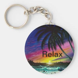 sunset_beach, Relax Keychains
