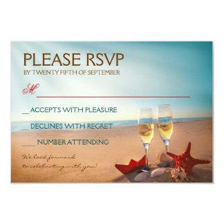Sunset Beach Romantic Wedding RSVP 9 Cm X 13 Cm Invitation Card