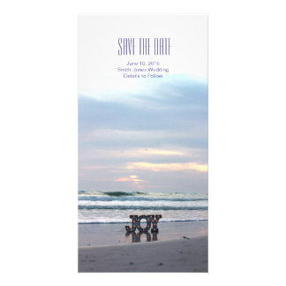 Sunset Beach Save the Date Card