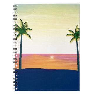 Sunset Beach Scene Notebook