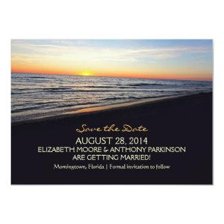sunset beach sea SAVE THE DATE CARDS 11 Cm X 16 Cm Invitation Card