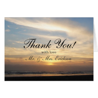 Sunset Beach Thank You Card