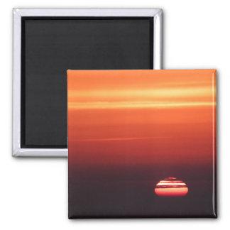 sunset beach vacation orange red ombre gradient fridge magnet
