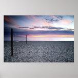 Sunset Beach Volleyball Poster