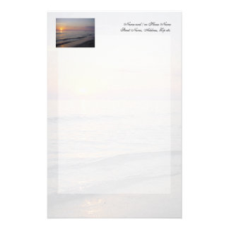Sunset Beach Waves, Serene and Peaceful Coast Stationery