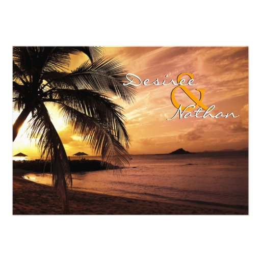 Sunset Beach Wedding Invitation