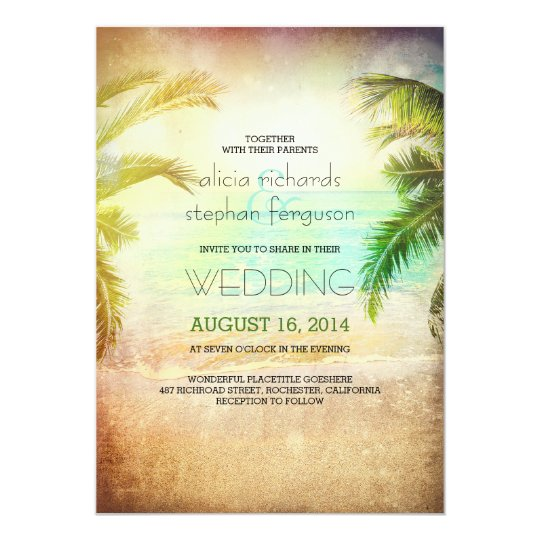 Sunset Beach Wedding Ideas: Sunset Beach Wedding Invitations
