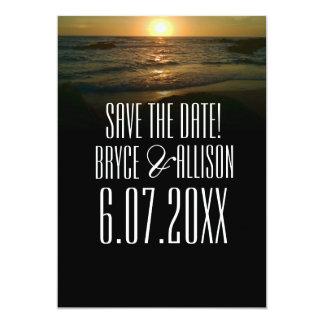 Sunset Beach Wedding Save the Date Card
