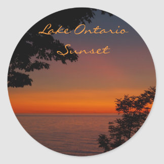sunset beauty, Lake OntarioSunset, Photo by... Round Sticker
