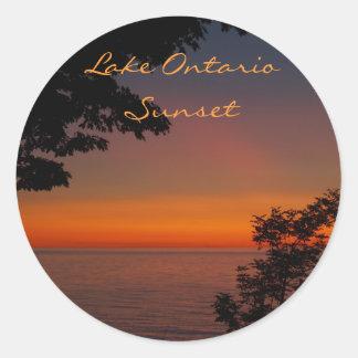 sunset beauty, Lake OntarioSunset, Photo by... Round Sticker