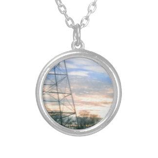 Sunset Beauty Round Pendant Necklace