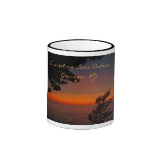 sunset beauty, Sunset on Lake OntarioOswego... Ringer Mug