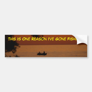 sunset beauty, This Is One Reason I've Gone... Car Bumper Sticker